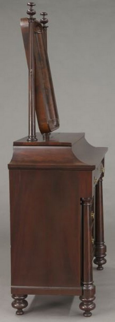 American Empire flame mahogany dressing table - 5