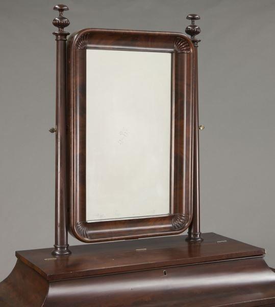 American Empire flame mahogany dressing table - 6