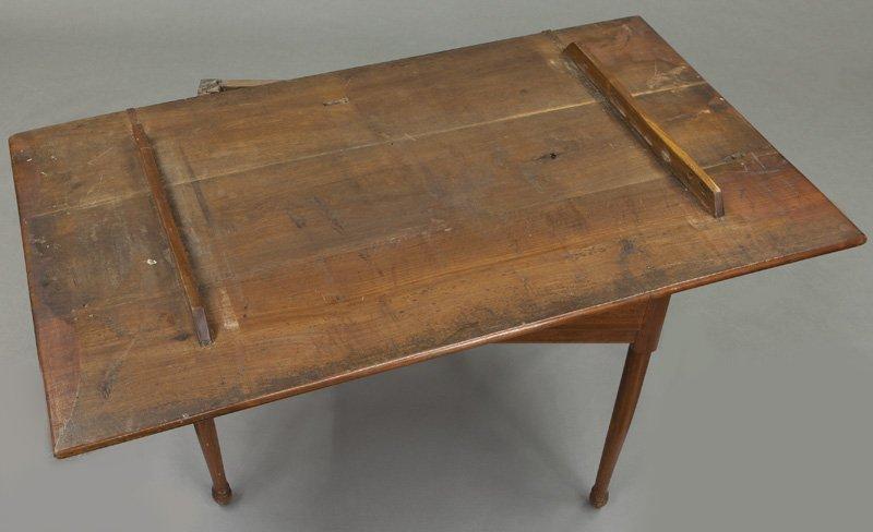 American 18th C. walnut farm table - 10