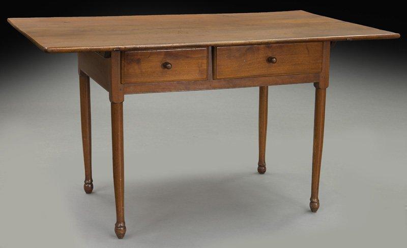 American 18th C. walnut farm table