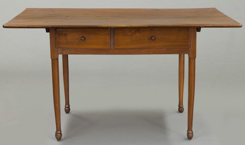 American 18th C. walnut farm table - 2