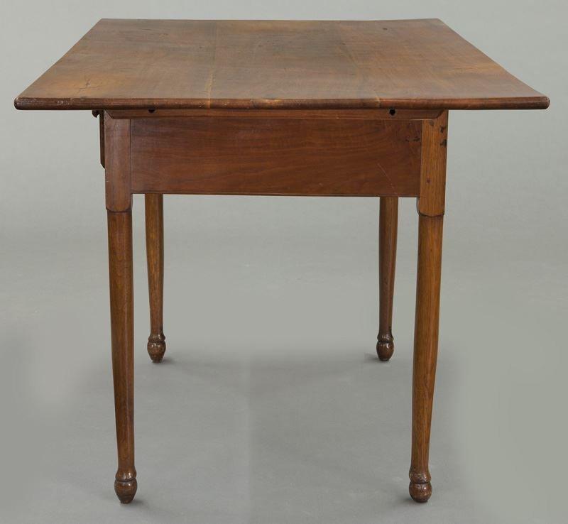 American 18th C. walnut farm table - 3