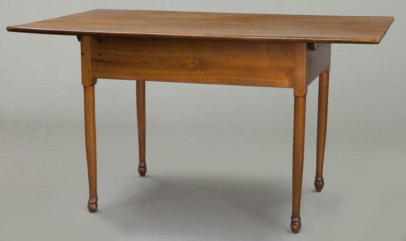 American 18th C. walnut farm table - 4