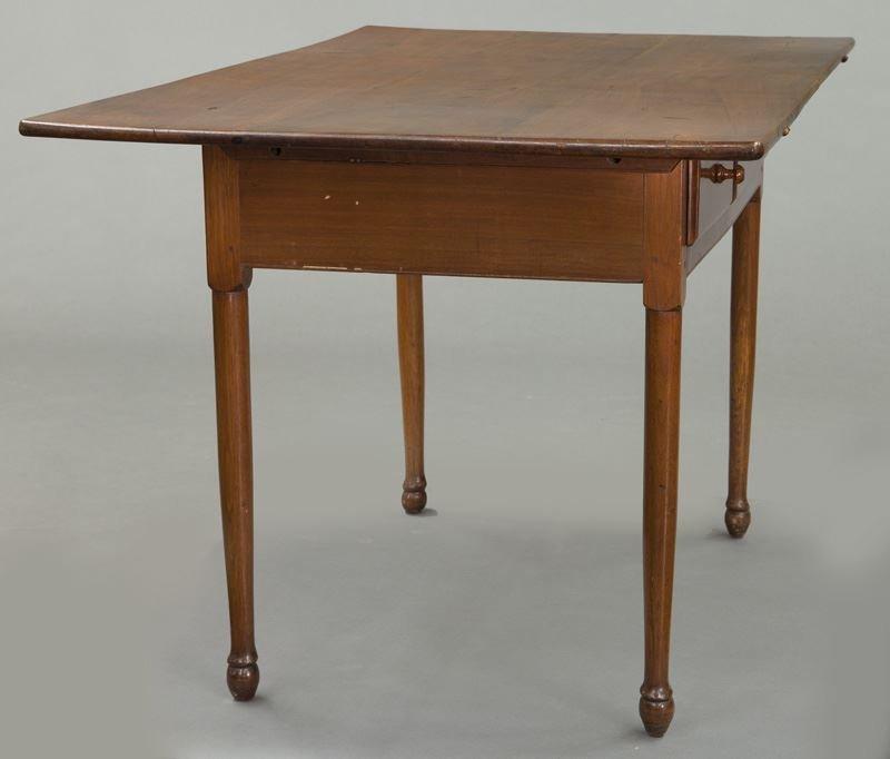 American 18th C. walnut farm table - 5
