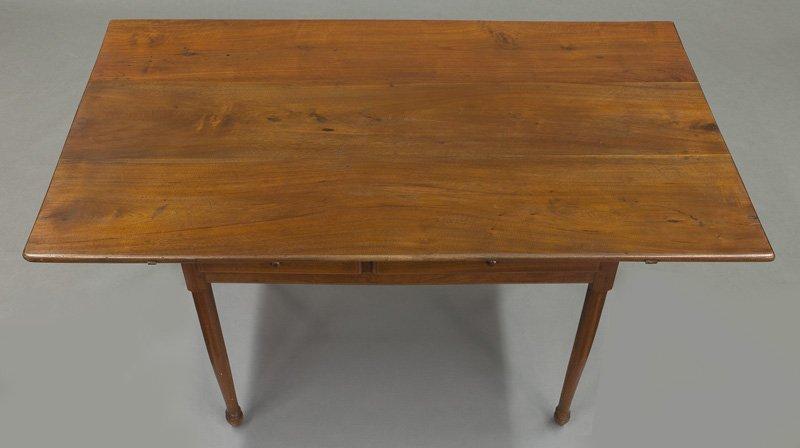 American 18th C. walnut farm table - 6