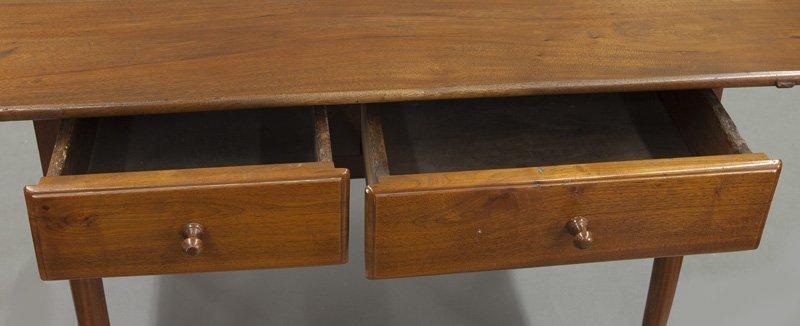 American 18th C. walnut farm table - 7