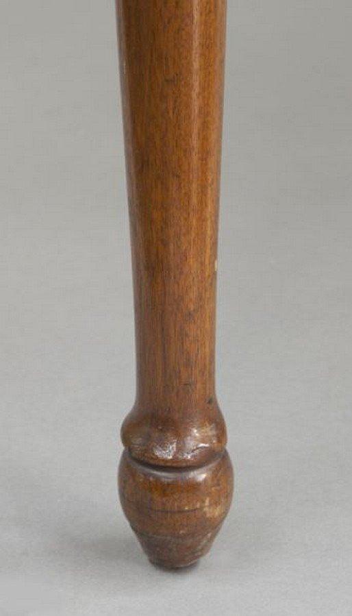 American 18th C. walnut farm table - 9