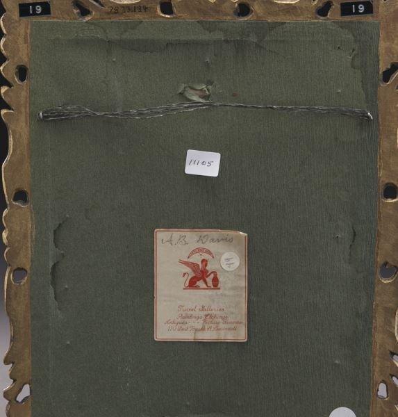 Gilt framed Limoges enameled plaque - 4