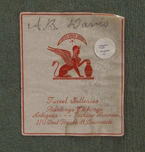 Gilt framed Limoges enameled plaque - 5
