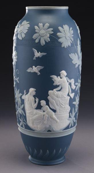 Mettlach pate-sur-pate vase