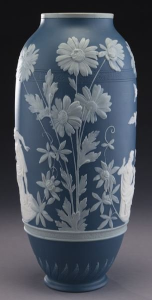 Mettlach pate-sur-pate vase - 4