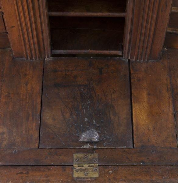 Early 18th C. French walnut drop front bureau - 10