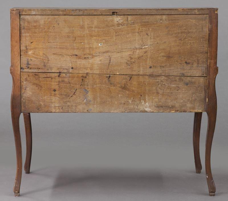 Early 18th C. French walnut drop front bureau - 4