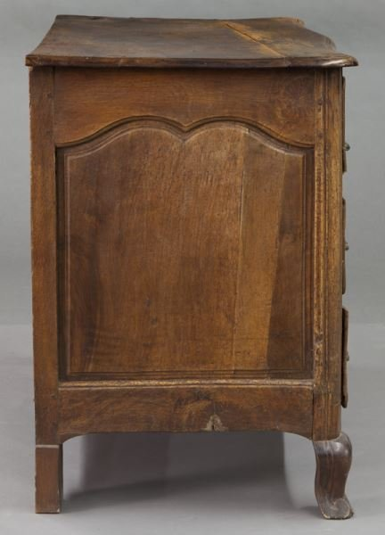 18th C. Country French walnut 5-drawer commode - 5