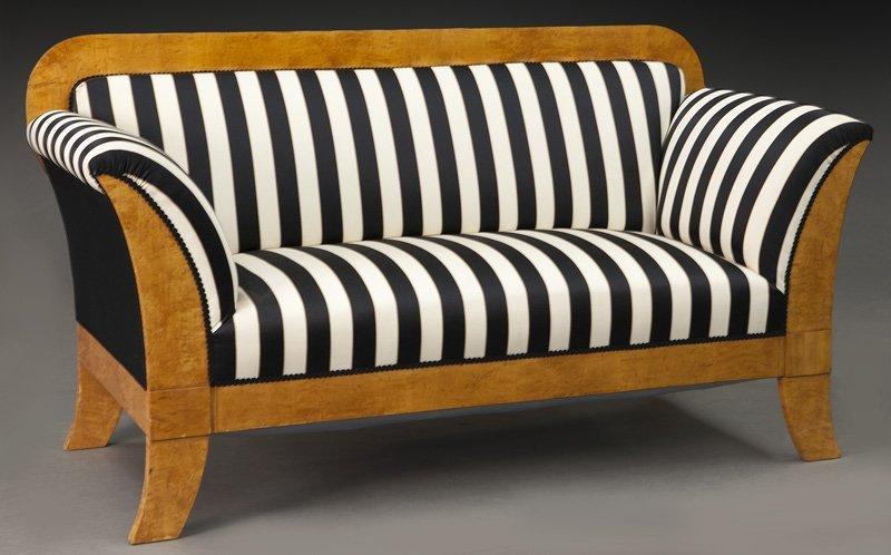 Austrian Biedermeier birch frame sofa,