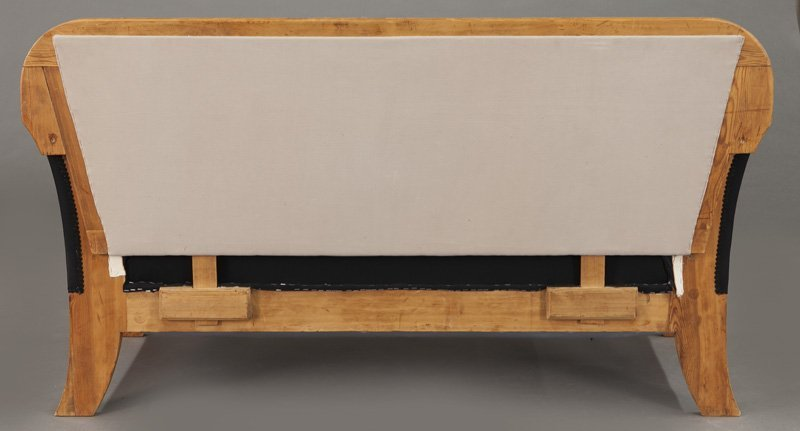 Austrian Biedermeier birch frame sofa, - 5