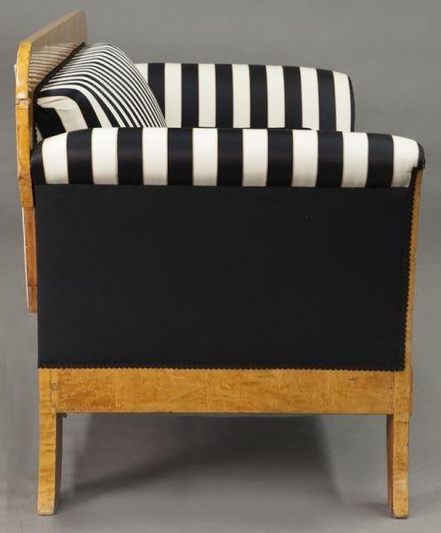 Austrian Biedermeier birch frame sofa, - 6