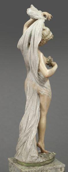 Art Nouveau style polychrome sculpture - 5