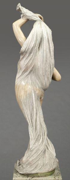 Art Nouveau style polychrome sculpture - 6