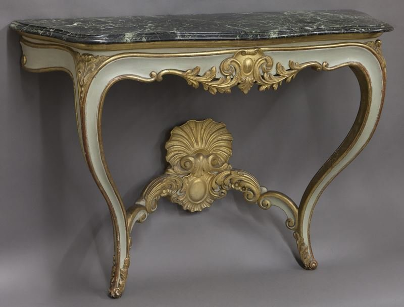 Pr. French Rococo style consoles, - 2