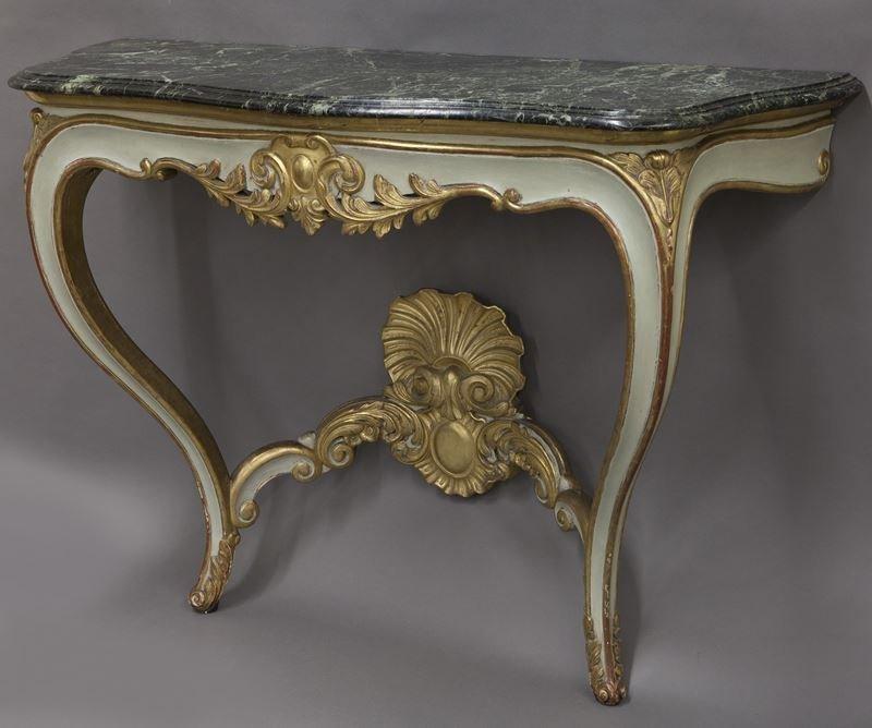 Pr. French Rococo style consoles, - 4