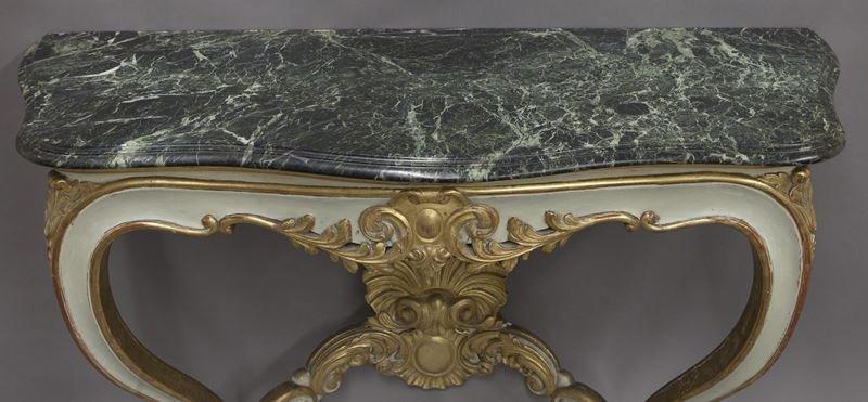 Pr. French Rococo style consoles, - 5