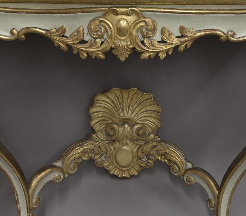 Pr. French Rococo style consoles, - 6