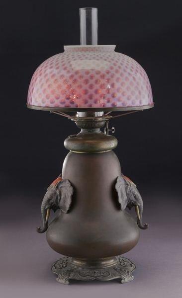 Bradley & Hubbard arts & crafts oil lamp