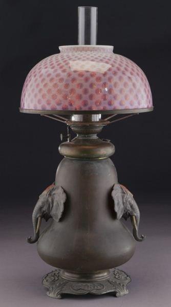 Bradley & Hubbard arts & crafts oil lamp - 3