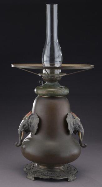 Bradley & Hubbard arts & crafts oil lamp - 4