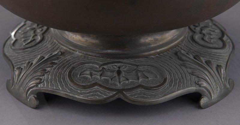 Bradley & Hubbard arts & crafts oil lamp - 8