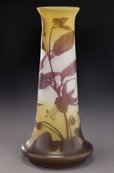 Galle French cameo glass vase, - 5