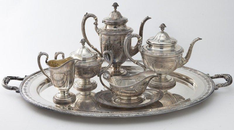Towle 6pc. Louis XIV sterling silver tea service