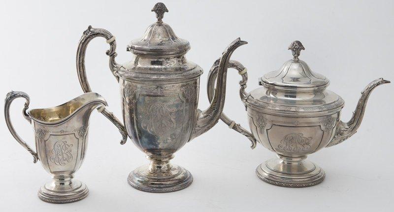 Towle 6pc. Louis XIV sterling silver tea service - 2