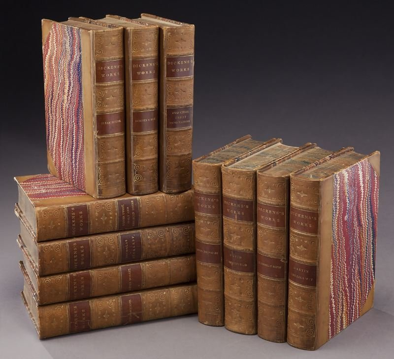 11 Volumes of The Works of Charles Dickens,
