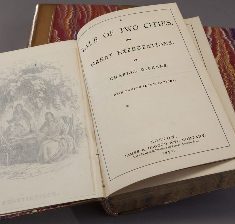 11 Volumes of The Works of Charles Dickens, - 4