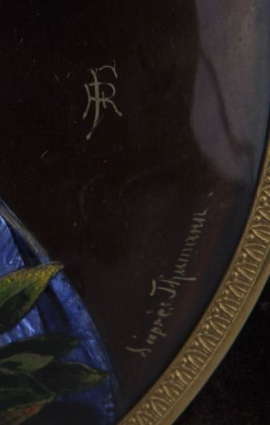 Limoges enameled plaque in excellent gilt bronze - 4