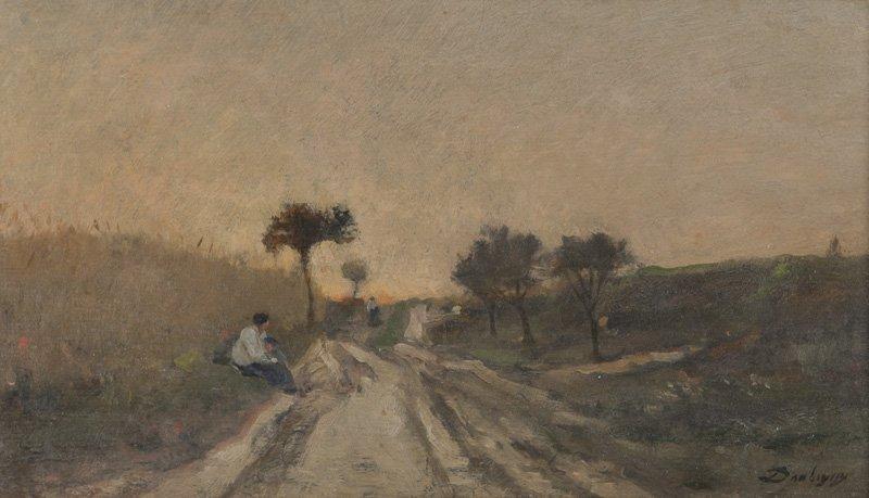 "Charles Francois Daubigny, ""Untitled (Landscape - 3"