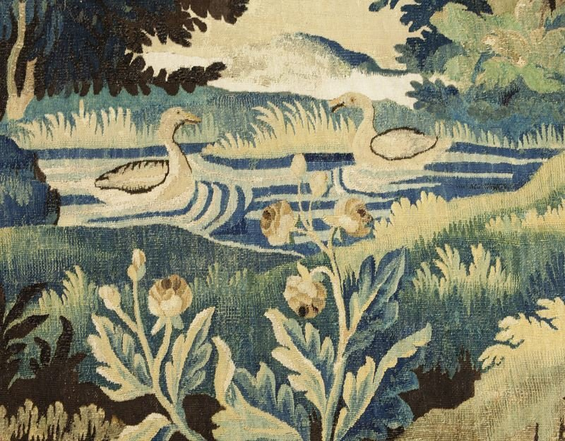 18th C. Aubusson tapestry panel depicting - 4