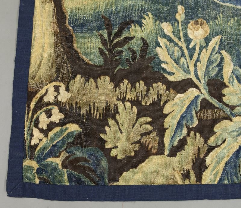 18th C. Aubusson tapestry panel depicting - 5
