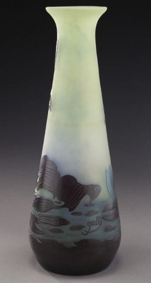 Galle French cameo glass vase, - 3
