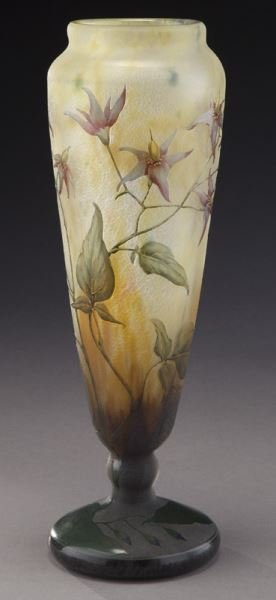 Daum Nancy French cameo glass vase,