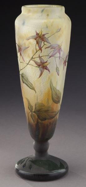 Daum Nancy French cameo glass vase, - 2