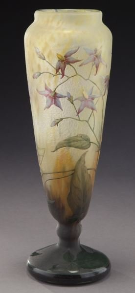 Daum Nancy French cameo glass vase, - 4