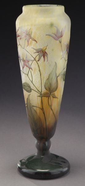 Daum Nancy French cameo glass vase, - 5