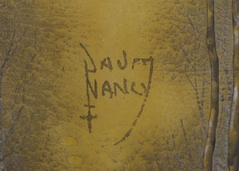 Daum Nancy winter scene cameo vase, - 7