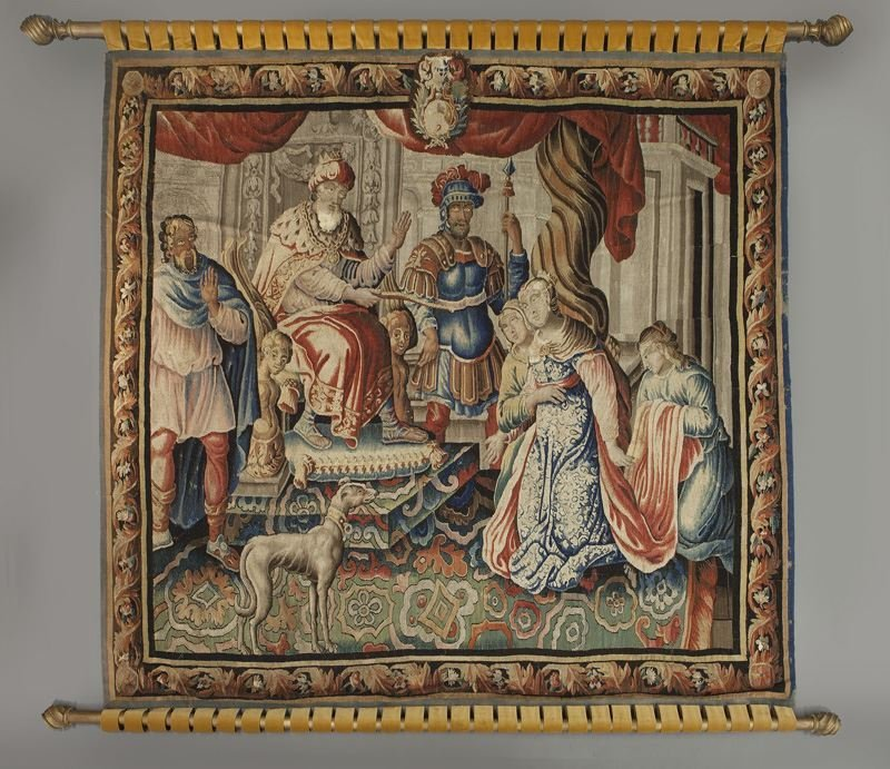 Aobusson narrative tapestry - Esther and Ahasuerus