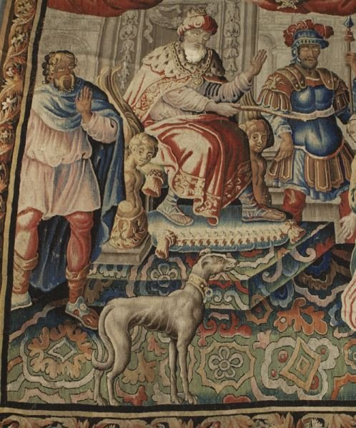 Aobusson narrative tapestry - Esther and Ahasuerus - 2