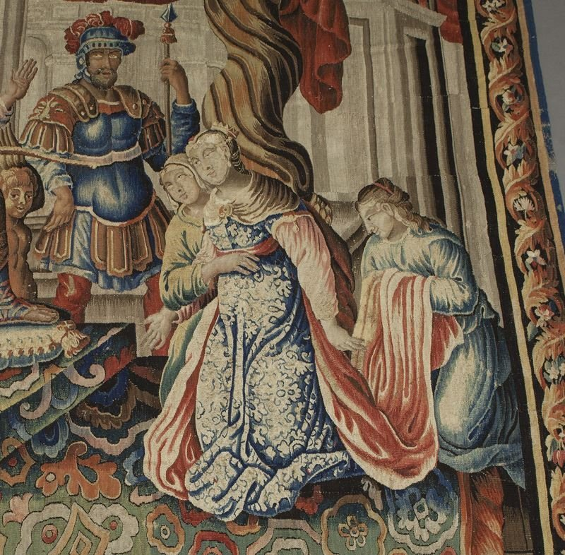 Aobusson narrative tapestry - Esther and Ahasuerus - 3