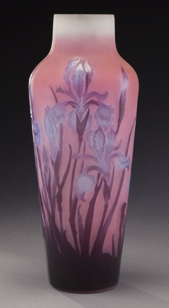 Large Galle French cameo glass vase,